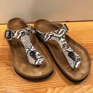 Birkenstock Gizeh Snake Print Sandals